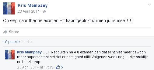 Kris Mampaey - Status